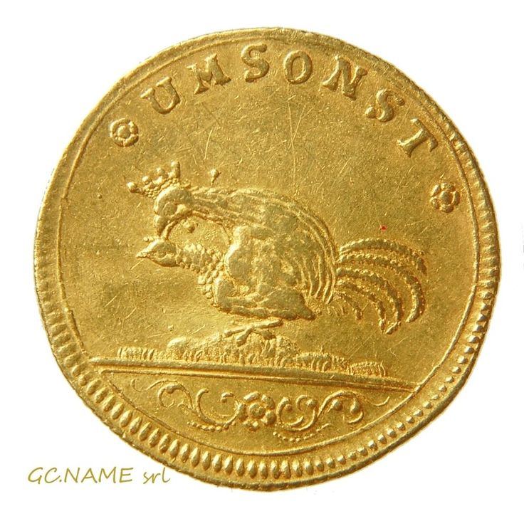 German States: Saxony,Augustus II the Strong,Gold Cosel-Ducat ND (1694-1733)#451
