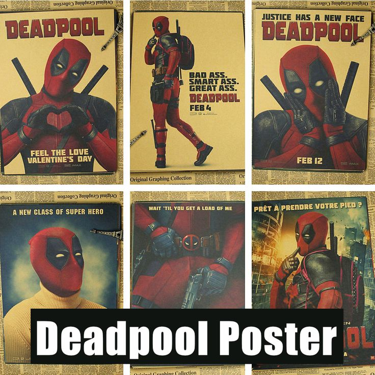 Posters-Deadpool-Deadpool-Marvel-superhero-Meng-cheap-decorative-sticker-Ryan-Reynolds-Movies-Videos/32696226013.html * Click image to review more details.