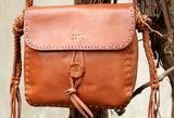 Handmade vintage rustic brown leather crossbody Shoulder Bag for women girl - 7-10 days for making / brown