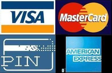 Betaalmogelijkheden: naast contant en voor bedrijven op factuur, worden ook pinpassen en creditcards geaccepteerd