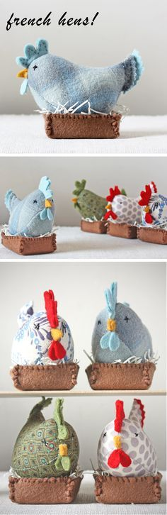 ann wood : french hens