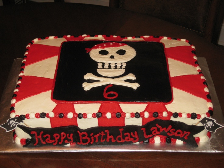 Pirate Sheet Cake by The Pink Honeybee