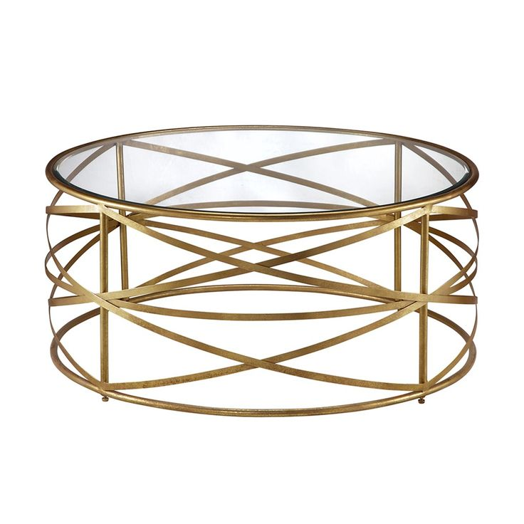 Madison Park Nora Coffee Table Gold TablesMetallic GoldLiving Room