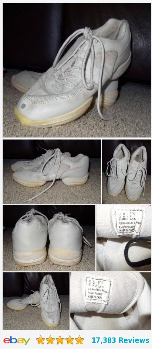 Hip Hop Dance Team Sneakers Shoes White Jazz Cheer Athletic Women's Size 8.5 SB | eBay http://www.ebay.com/itm/-/252975752342?