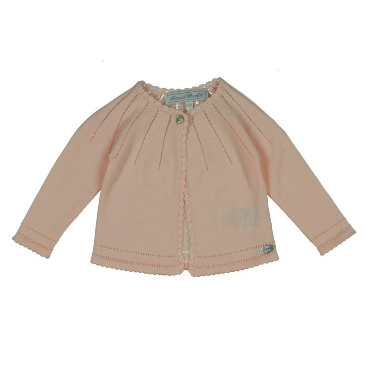 Baby Girls Pink Cardigan with Detailed Trimming. Now available at www.chocolateclothing.co.uk