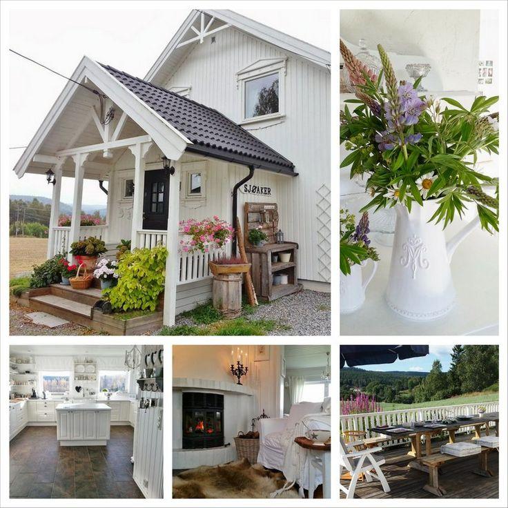 Интерьер в белом цвете, дома в Норвегии