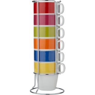 Buy ColourMatch 6 Piece Stacking Mug Set - Multicoloured at Argos.co.uk - Your Online Shop for Tea sets, mugs and accessories. £9.99