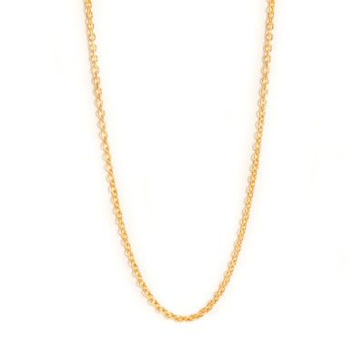 Guld/guldbelagt halskæde til farmor-vedhæng.