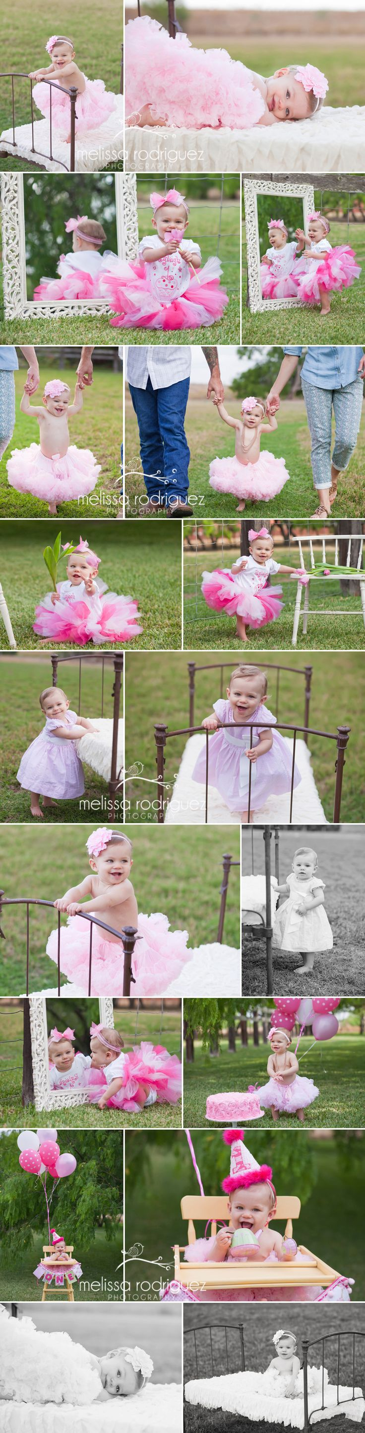Rio Grande Valley children's photographer Melissa Rodriguez Photography first birthday photos