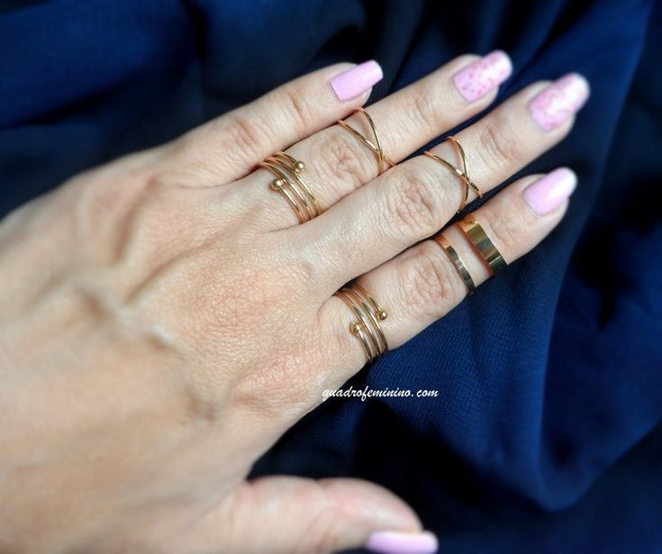 Mix de anéis dourados