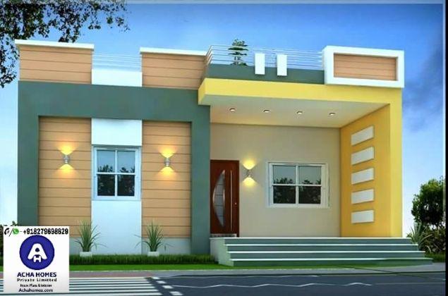 One Floor Home Plans Unique 800 Sqft Single Floor Modern Home Design Rumah Indah Desain Eksterior Desain Rumah
