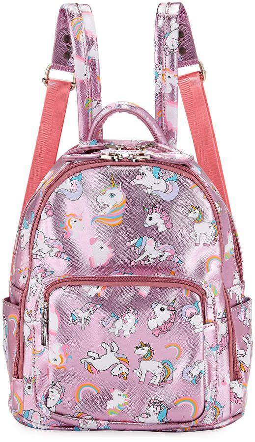 dbaea124204 Girls' Metallic Faux-Leather Unicorn Mini Backpack in 2019 | Fashion ...