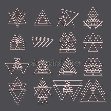 Letöltés - Trendi geometriai alakzatok gyűjteménye. Geometriai ikonok — Stock Illusztráció #72088797