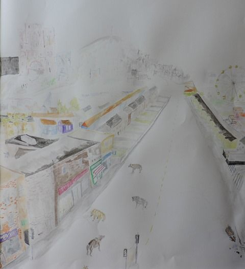 Urban agriculture drawing 2015
