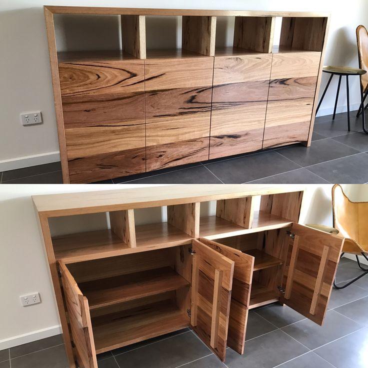 Solid hardwood timber buffet