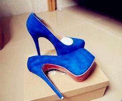 Blue heels
