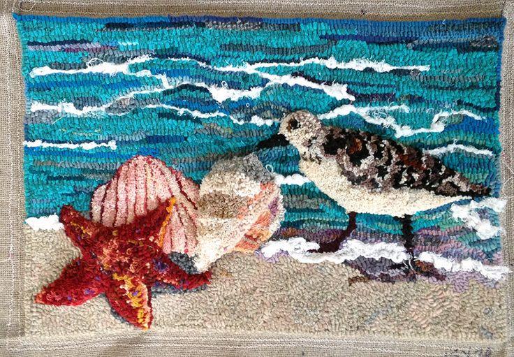 196 Best Rug Hooking Nautical Beach Images On Pinterest