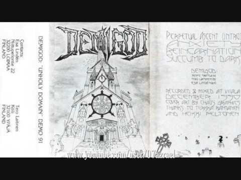 DEMIGOD - Unholy Domain ◾ (demo 1991, Finnish death metal)