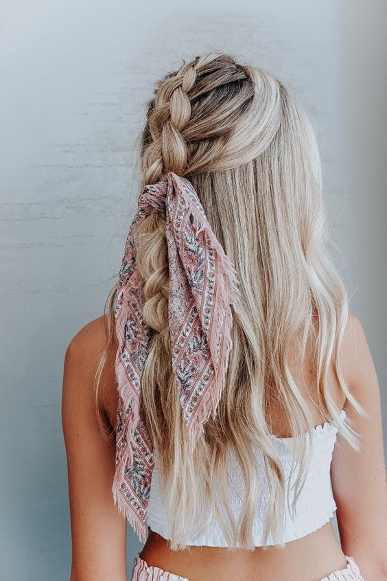45 chic summer hairstyles with headscarves - # headscarfs #schicke # summer hairstyle ..., # Headtuft