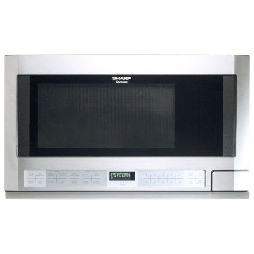 Sharp 1 5 Cu Ft Over The Counter Microwave Stainless Steel