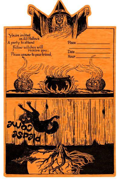 Free Vintage Halloween Printable invite...