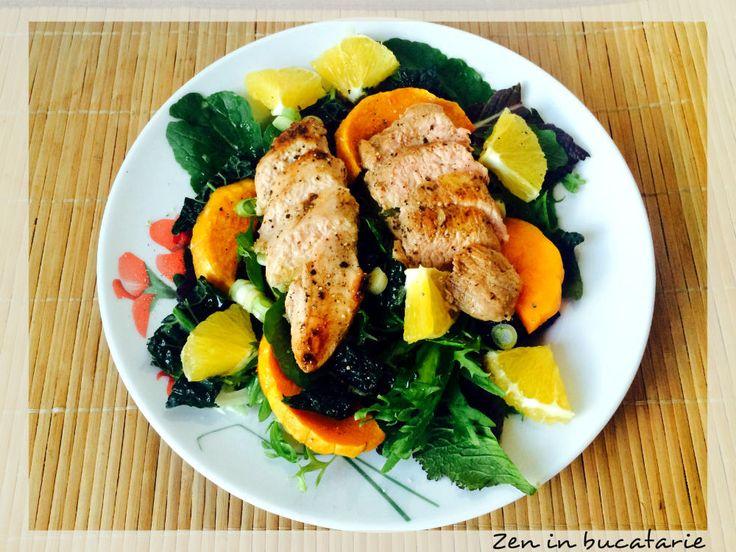 Salata calda cu piept de rata