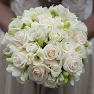 Hint of Softness Bridal Bouquet; traditional; $99.99