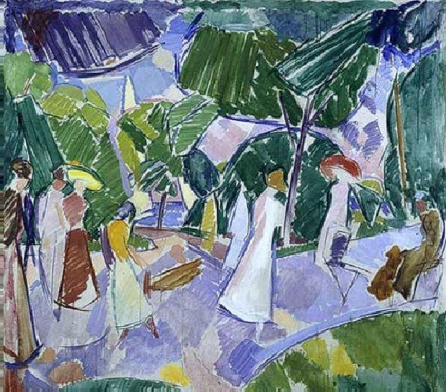 'Scene from Langelinie', c.1924 - Edvard Weie