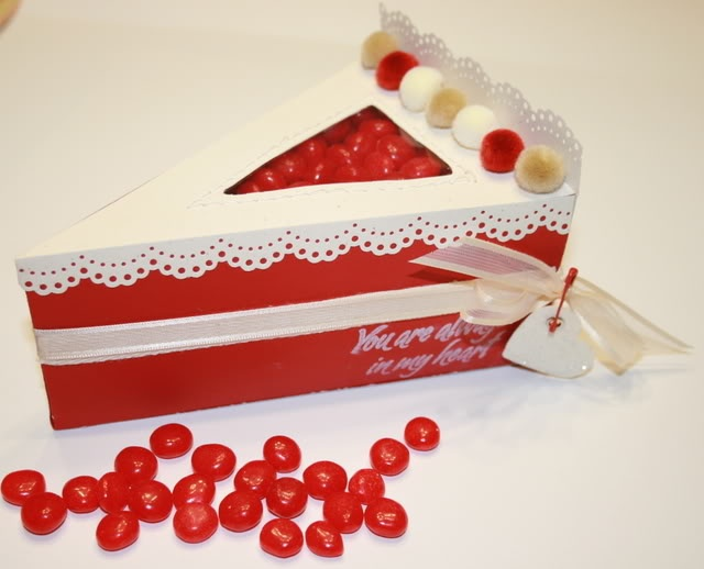how to make a paper cake slice