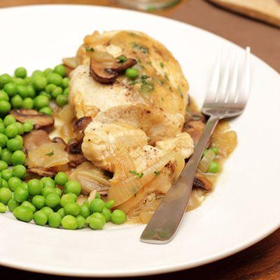 Poitrines de poulet farcies aux champignons