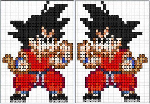 Dragon Ball perler bead pattern