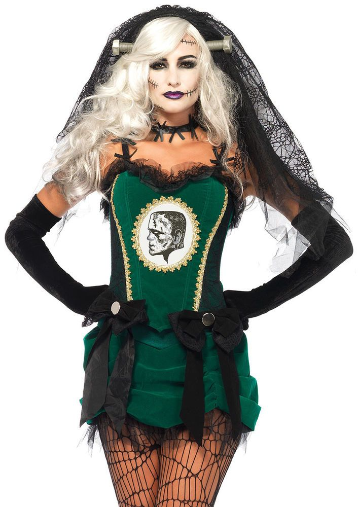 Leg Avenue Women's 4PC. Deluxe Bride Of Frankenstein Costume  | eBay