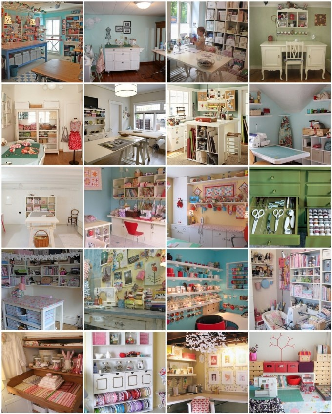 Lots of Craft room ideas