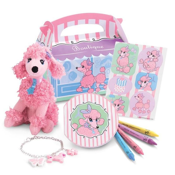 Pink Poodle in Paris Filled Party Favor Box