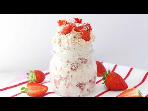 Strawberry Shortcake Overnight Oats - My Fussy Eater