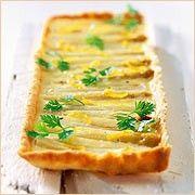 Spargeltarte mit Ziegenkäse und geriebener Zitrone - BRIGITTE