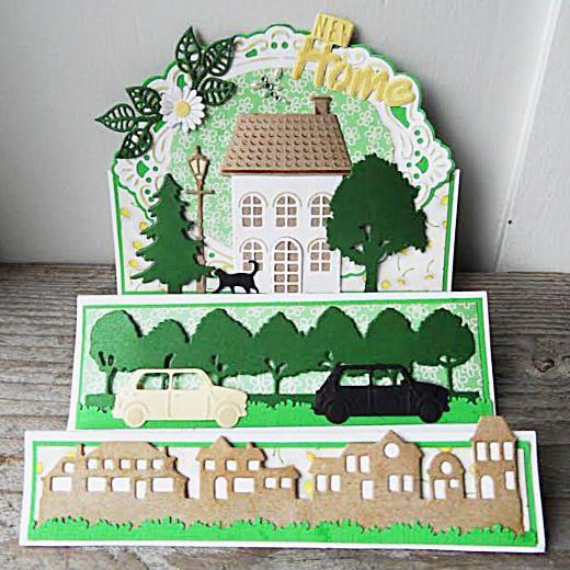 Marianne Design Creatables Die - Horizon Village LR0353