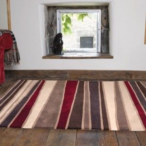Covor Streak Brown/Red, 160x230 cm