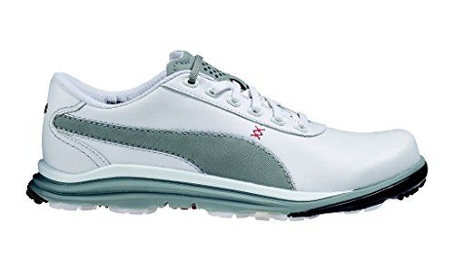 Mens Golf Shoes Idea | PUMA Mens Biodrive Leather WB Golf Shoe WhiteLimestone Gray 9 M US *** You can find more details by visiting the image link. Note:It is Affiliate Link to Amazon.