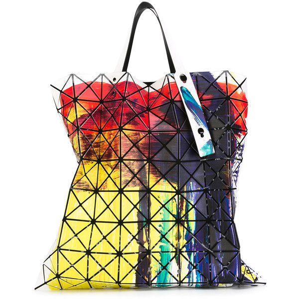 Bao Bao Issey Miyake brushed print flat tote ($1,131) ❤ liked on Polyvore featuring bags, handbags, tote bags, multicolor, handbags tote bags, multi colored purses, tote handbags, multi color purse and pattern tote bag