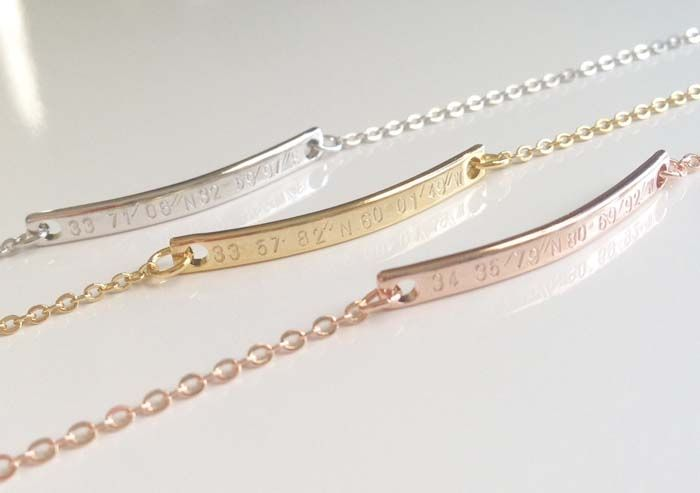 These delicate coordinating bracelets from MignonandMignon would make a very personal and touching gift to give your bridesmaids to remind them of this special time you've shared.
