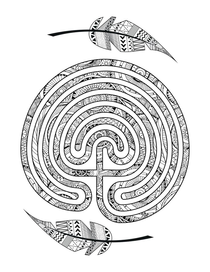 897 best labyrinths images on pinterest labyrinths for Labyrinth coloring pages