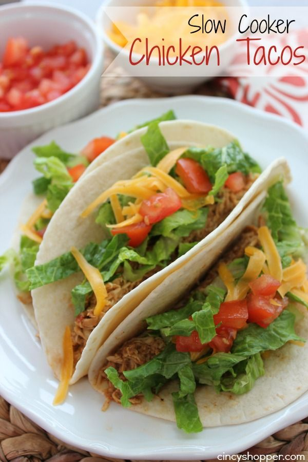 Slow Cooker Chicken Tacos- So Simple!