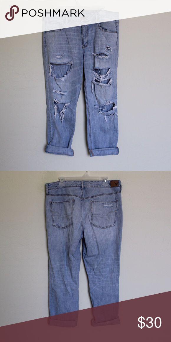women's boyfriend jeans fits loosely. super comfortable American Eagle Outfitters Jeans Boyfriend