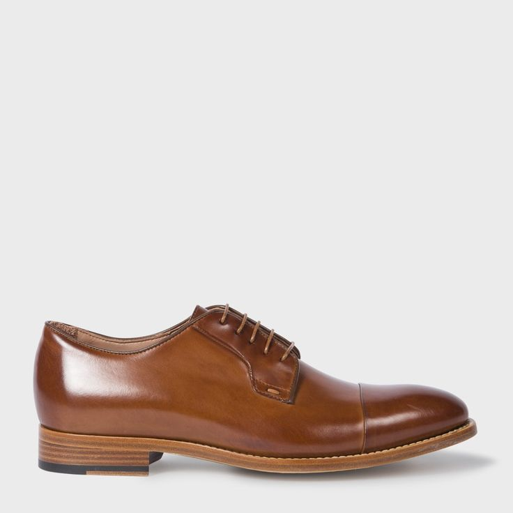 PAUL SMITH Men'S Tan Parma Calf Leather 'Ernest' Shoes. #paulsmith #shoes #all