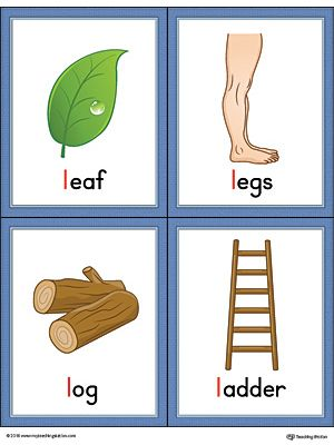 2 letter words with l letter l words and pictures printable cards leaf legs 20033 | 5a2bd596c2fa30f6e4834f79d0090101