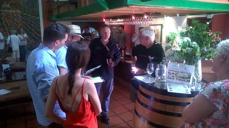 Wine tasting with Allan at Klein Constantia.