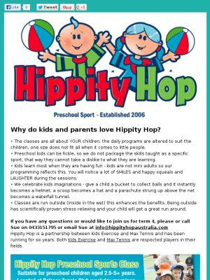 special offer term 4 preschool sport Belrose $99 www.hippityhopaustralia.com