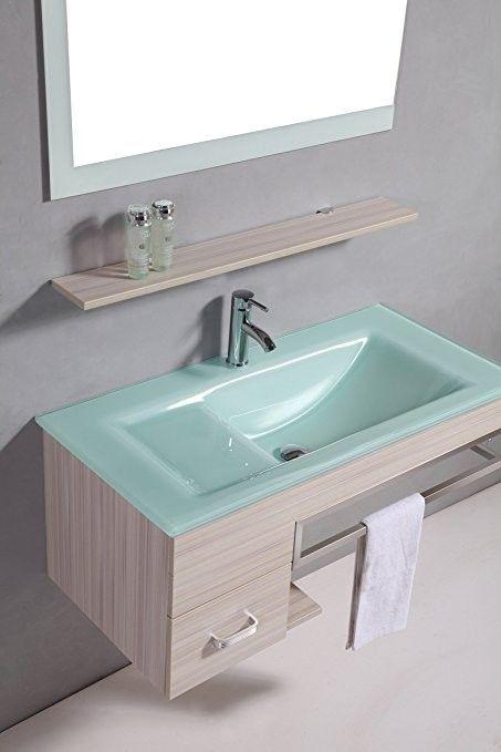 Více než 20 nejlepších nápadů na téma Glaswaschtisch na Pinterestu - spiegelschrank badezimmer 120 cm