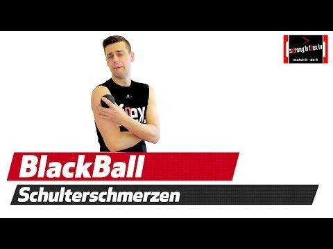 Blackroll Übungen - Schulterschmerzen mit Blackball triggern - YouTube